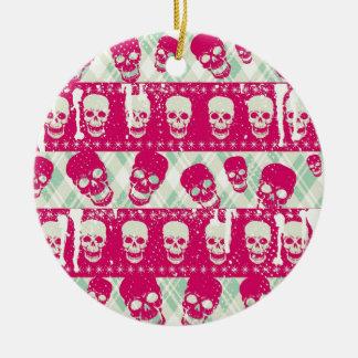 Productos del modelo del cráneo del rosa y de la v adornos de navidad