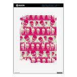 Productos del modelo del cráneo del rosa y de la v iPad 3 skins