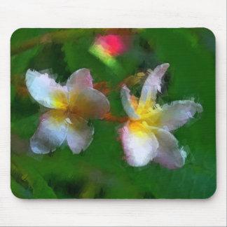 Productos del múltiplo de la flor rosada y blanca alfombrilla de ratones
