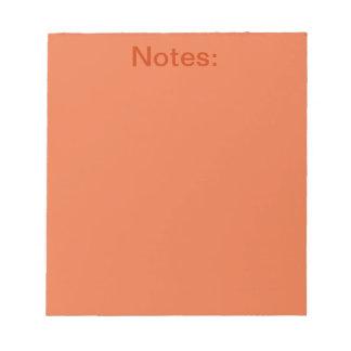 Productos del naranja del Celosia Blocs De Notas