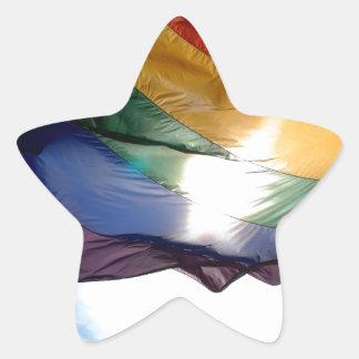 Productos del orgullo gay pegatina en forma de estrella