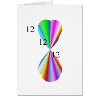 Productos del papel del corazón del arco iris tarjeta de felicitación