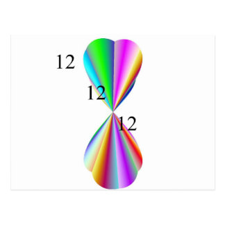 Productos del papel del corazón del arco iris tarjeta postal