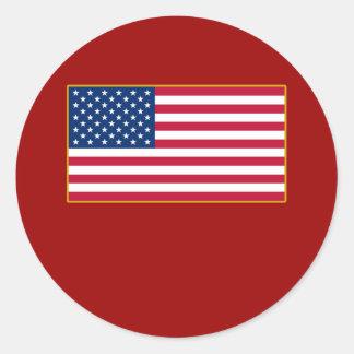 Productos del personalizable de la bandera pegatina redonda
