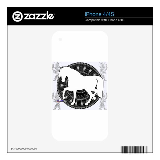 PRODUCTOS DEL PERSONALIZABLE DEL MAYA DEL CABALLO iPhone 4S SKIN