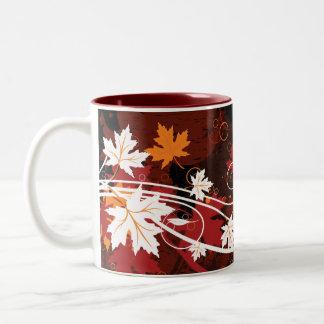 Productos del personalizado del hoja-arce del otoñ taza de café