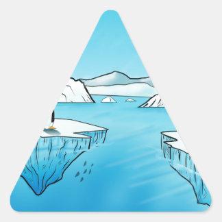 Productos del pingüino pegatina triangular