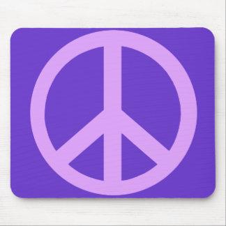 Productos del signo de la paz de la lila alfombrilla de ratones
