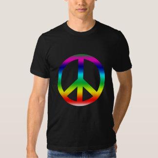 Productos del signo de la paz del arco iris polera