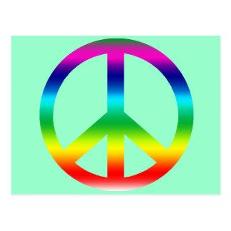 Productos del signo de la paz del arco iris tarjeta postal