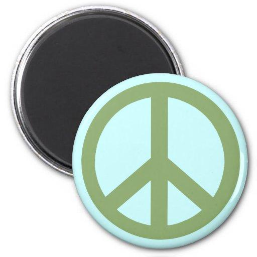 Productos del signo de la paz del verde caqui iman para frigorífico