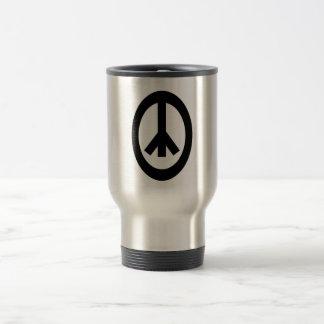 Productos del signo de la paz taza de café
