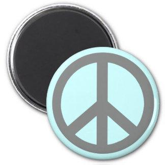 Productos del símbolo de paz del gris de plata imán redondo 5 cm