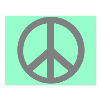 Productos del símbolo de paz del gris de plata tarjetas postales