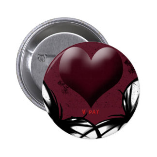 Productos del V-Día del gótico Pin Redondo De 2 Pulgadas
