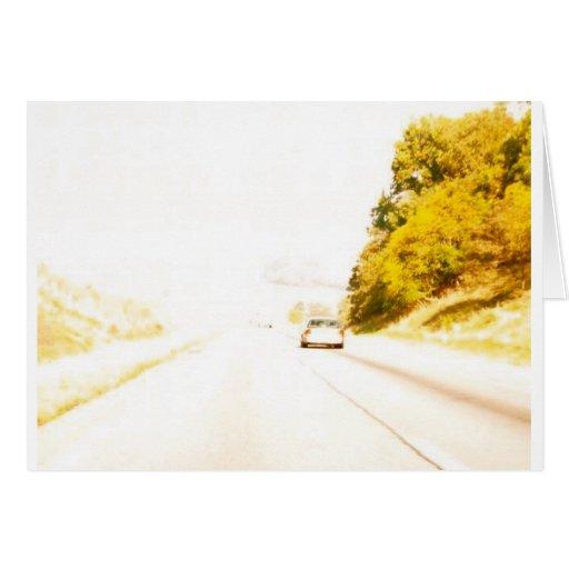 Productos del viaje por carretera tarjeta de felicitación