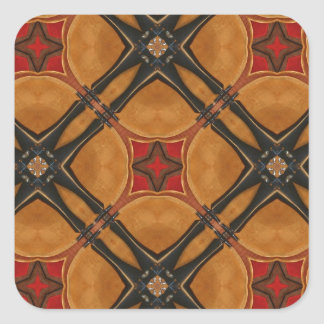 Productos diseñados abstractos múltiples pegatina cuadrada