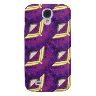 Productos diseñados abstractos púrpuras y amarillo