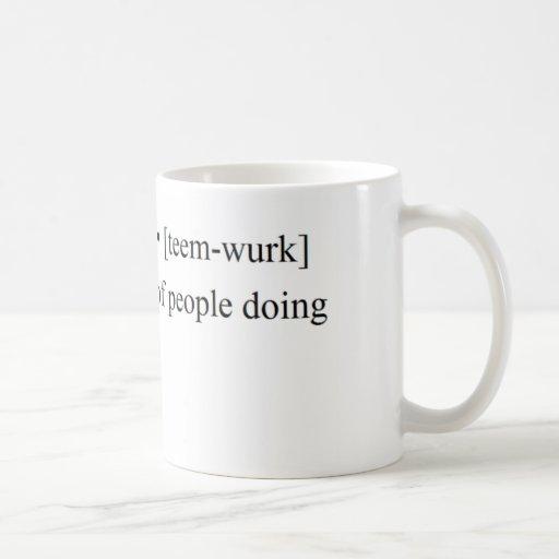 Productos divertidos del trabajo en equipo tazas de café