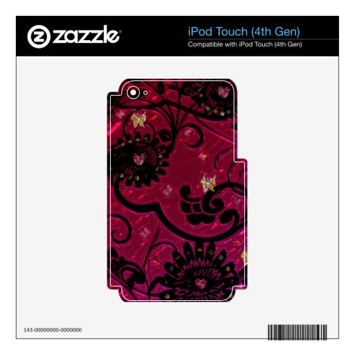 """Productos eléctricos """"florales"""" metálicos"""". * skins para iPod touch 4G"""