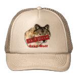 Productos en peligro de la especie del lobo gris gorras de camionero
