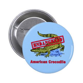 Productos en peligro del cocodrilo americano pins