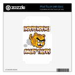 Productos enojados de los tigres de la independenc iPod touch 4G skins