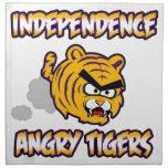 Productos enojados de los tigres de la independenc servilletas imprimidas