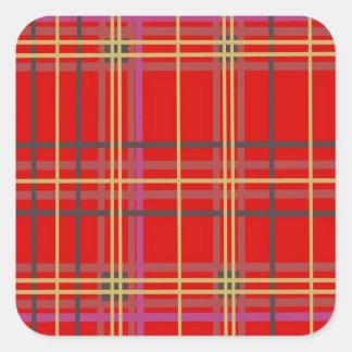 Productos escoceses de la tela escocesa o del pegatina cuadrada