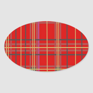 Productos escoceses de la tela escocesa o del pegatina ovalada