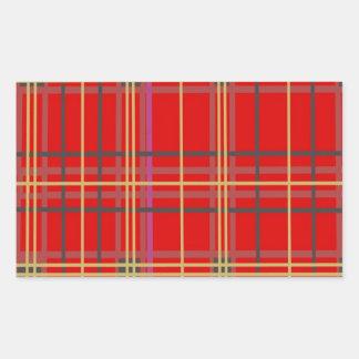 Productos escoceses de la tela escocesa o del pegatina rectangular