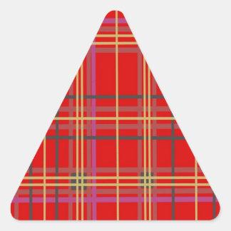 Productos escoceses de la tela escocesa o del pegatina triangular