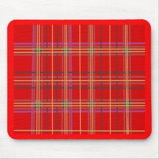Productos escoceses de la tela escocesa o del tart alfombrillas de raton