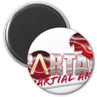 Productos espartanos de los artes marciales imán redondo 5 cm