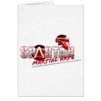 Productos espartanos de los artes marciales tarjetas