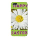 Productos felices de Pascua de la margarita blanca iPhone 5 Cárcasa