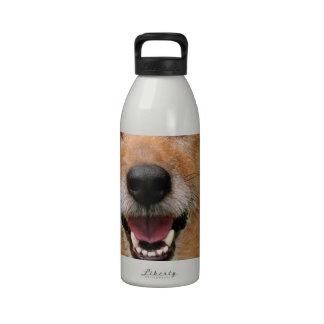 Productos felices del perro del fallecimiento gruñ botella de agua