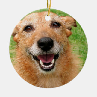 Productos felices del perro del fallecimiento gruñ ornamentos de reyes magos