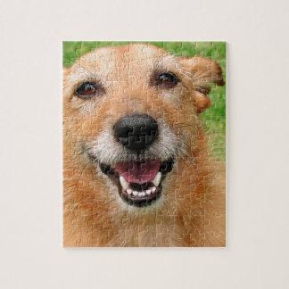 Productos felices del perro del fallecimiento gruñ puzzles con fotos