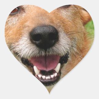Productos felices del perro del fallecimiento pegatinas de corazon