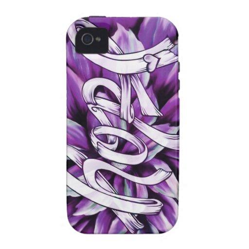 Productos florales de la esperanza del cáncer panc vibe iPhone 4 carcasas