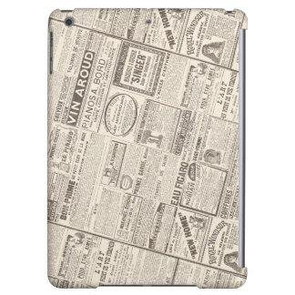 Productos franceses de los anuncios de periódico