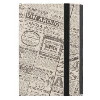 Productos franceses de los anuncios de periódico iPad mini carcasas