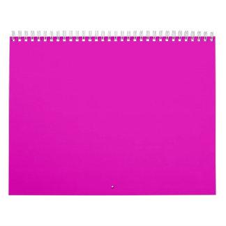 Productos fucsias calientes calendarios de pared