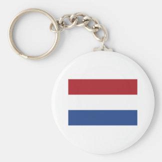 Productos holandeses de la bandera llavero redondo tipo pin