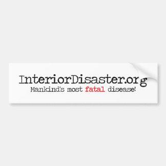 Productos interiores del desastre pegatina para auto