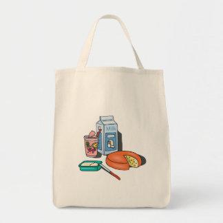 productos lácteos bolsa tela para la compra