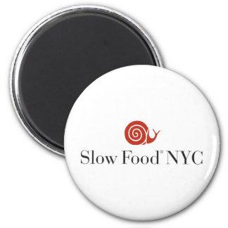 Productos lentos del logotipo de la comida NYC Imán Redondo 5 Cm