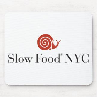 Productos lentos del logotipo de la comida NYC Tapete De Ratón