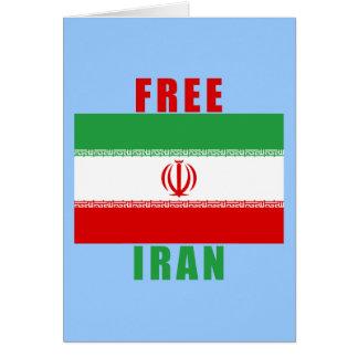 Productos libres de Irán Felicitación